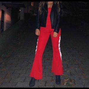 PLT RED PETITE JUMPSUIT